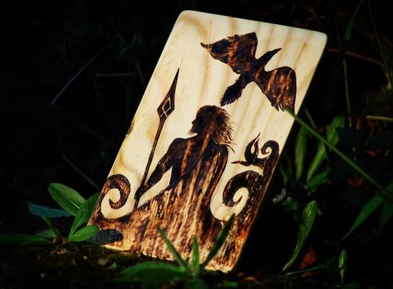 ODIN - Norse God Wood Burning