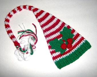 Crochet Baby Hat Newborn Christmas Elf Photo Prop