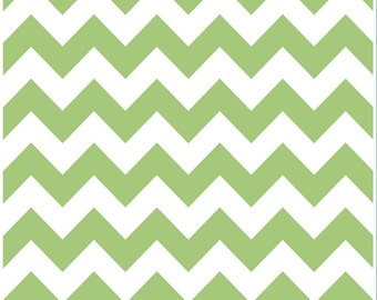 Medium Chevron Green by Riley Blake Designs 1 yard cut