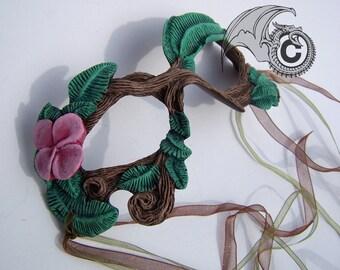 Pink Flower Twig Mask