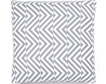 Designer Cushion Cover 16 x 16 inches - Decorative Throw Cushion Cover - Grey