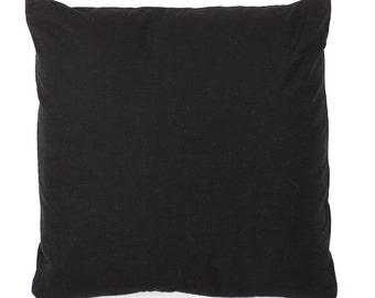 Designer Cushion Cover 16 x 16 inches - Decorative Throw Cushion Cover - Black