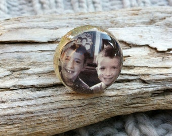 Moontideart Memory Ring - Your Personal PHOTO RING - Moontideart Original - Your Photo - Any Photo  Photo Ring - Photo Ring