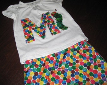 Very Hungry Caterpillar Custom Initial shirt - Several examples shown