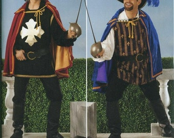 Simplicity Costume Sewing Pattern 0815 (aka 2334) - Men's Musketeer Costumes (XS-XL)