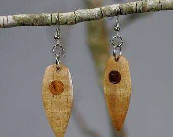 Anigre Wood Earrings