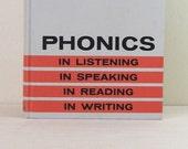 Phonics - Vintage English Speech Book - Orange & Grey Striped Hardcover