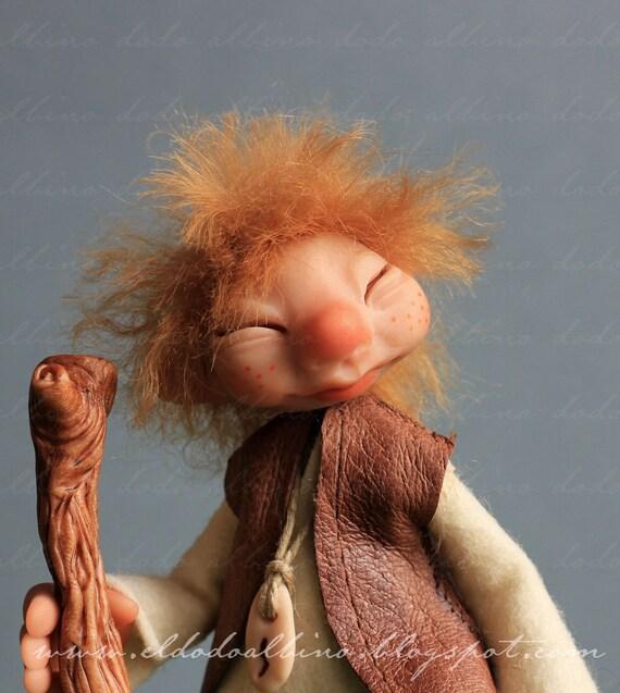 Taistealaiche , the traveller pixie. OOAK fairy art doll