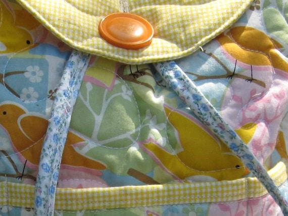 for Brenda N only: Custom girls birds backpack, kids size