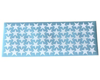 Star-shaped vinyl stickers 0.75in - select the colour(s) you prefer