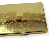 Cigarette Case Wallet - The Honey. Thin Gold Floral