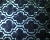 Woven area rug in classy light blue and navy diamond print size 4ft by 6ft