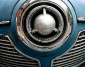 Antique Automotive Abstract Fine Art Photography Blue Silver Studebaker, Nose Dive 8x12