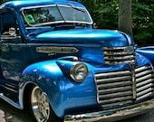 Fine Art Automotive Photography Vintage Blue GM Truck Still Life Color, GM Blues 8x12