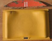 PENDING/ Jonathan Vintage BOSTON GARDEN Authentic All Original Yellow Plastic Seat w/ Orange Original Wooden Back Piece Very Rare