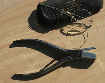 Antique Rare Fine Made In GERMANY Hollow Bending Pliers OPTOMETRIST Tool Perfect For Jewelers, Leather, Metal Crafting Fine Condition