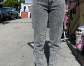 Stonewashed Anchor Blue 80s High Waisted Jeans Size 5/7
