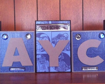 Star Wars Custom Name Kids/Baby Room Wood Blocks