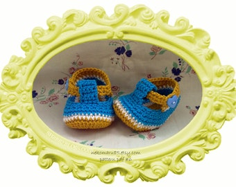 Crochet Baby Booties T-strap - pattern pdf 6 - Permission to Sell Finished Items