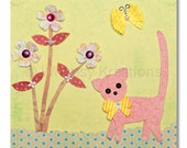 Children's Art, Nursery Art, Kids Decor, Nursery Wall Art, Kitty Print