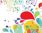 Premade Etsy Shop Image Set - Design 27 Color Splashes