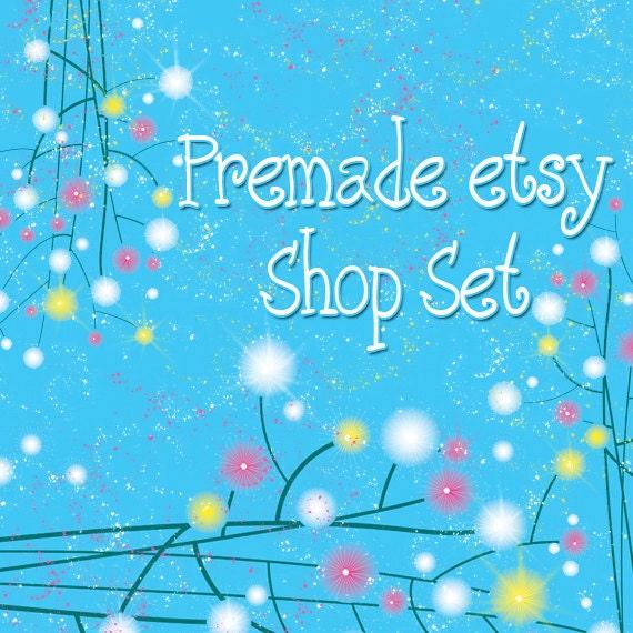 Premade Etsy Shop Image Set - Blue Fairy Land