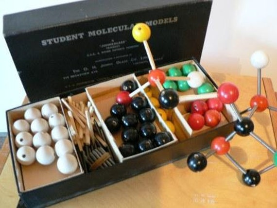 vintage Geeky Goods ... Student MOLECULAR MODEL Johnglass kit ...