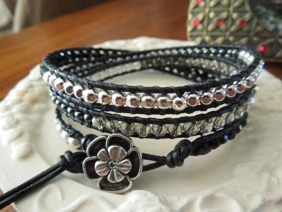Little Black Dress Wrap Bracelet