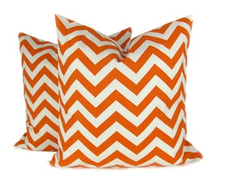 Pillows Decorative Throw Pillow covers, Orange Pillows Home Decor, Accent Pillow 18x18 Pillow , Sofa Pillow  Toss Pillow Orange Bedding