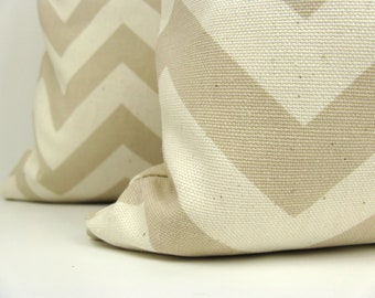 Decorative Throw Pillows Throw Pillow Covers 16x16 Chevron Pillow Tan Cream Pillows Decorative Sofa Pillows Toss Pillows Accent Pillow