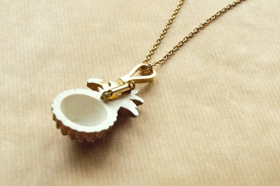 Brooch Necklace Converter Gold Plated Vertical