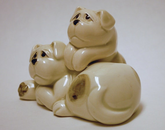 Puppy Dog Salt Pepper Shakers Super Cute By Adelebeeannvintage