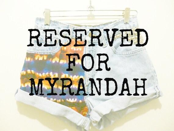 MYRANDAH'S 3 PAIR OF high waist Jean shorts