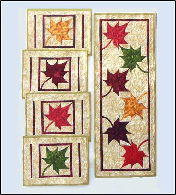 Dancing Maples Table Runner and Placemats PDF Quilt Pattern