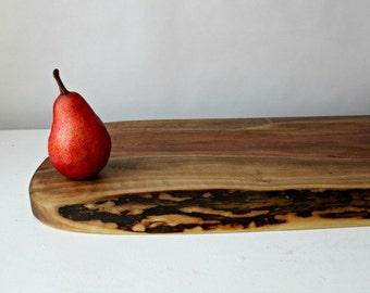 live edge charcuterie board reclaimed black walnut eco-friendly gift