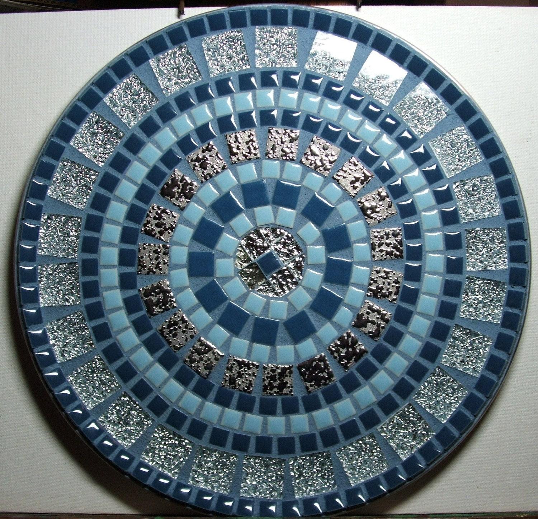 12 decorative mosaic tile plate for Unique mosaic tile