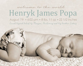 Neutral Birth Announcement (Printable)