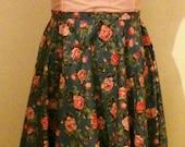 Pretty Flower Circle Skirt