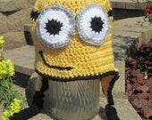 MINION HAT. Crochet Minion Hat, Unique Gift.