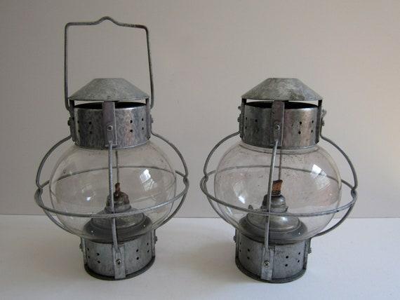 Reserved for Dionne 2 Galvanized Metal Garden Lanterns