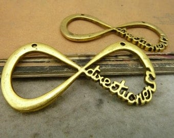 4PCS antique gold 30x60mm one direction infinity charm connector- W5266