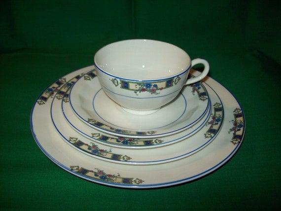 1920 S Edwin M Knowles China Co Dinnerware Set 50