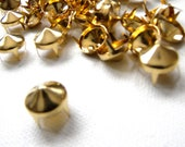 "100 1/2"" GOLD Cone Studs - Big Chunky low rise spike cone studs - Ships quickly from US"