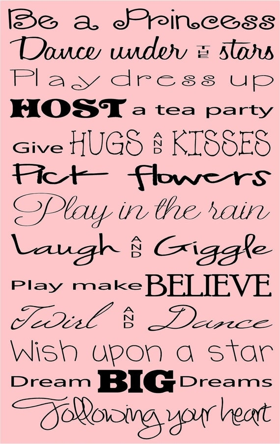 Be A Princess Quote Vinyl Wall Decal