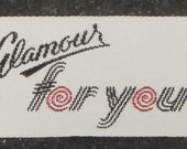 Vintage fabric labels: Glamour for you, 10 pcs
