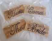 4 Piece Here Comes the Bride Set