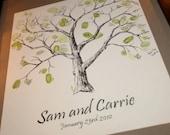 Medium Thumbprint Tree Guestbook - original artwork, not a print