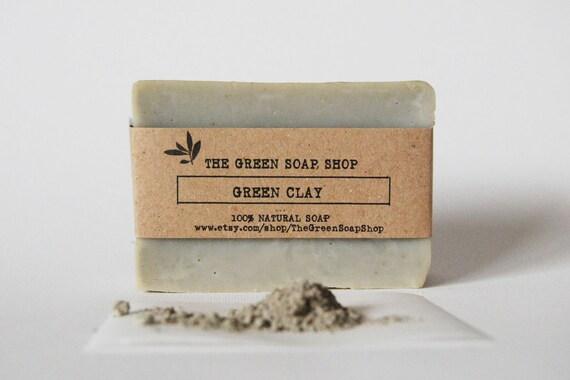 Green clay soap- All natural handmade soap