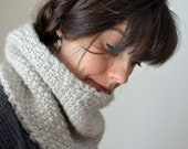RESERVED LISTING for Daria Big, thick textured handknit cowl in soft merino