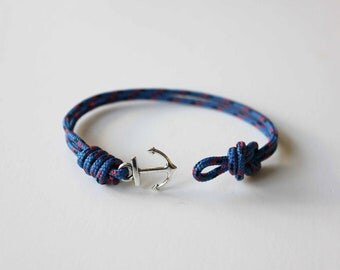 Knots N Anchor Bracelet - Blue